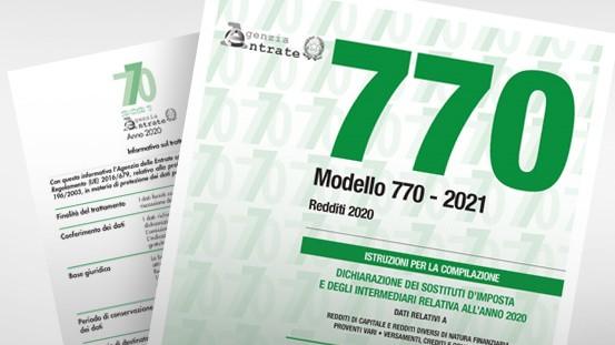 Imposte dirette – Modello 770/2021 – Dichiarazione dei sostituti d'imposta 2020